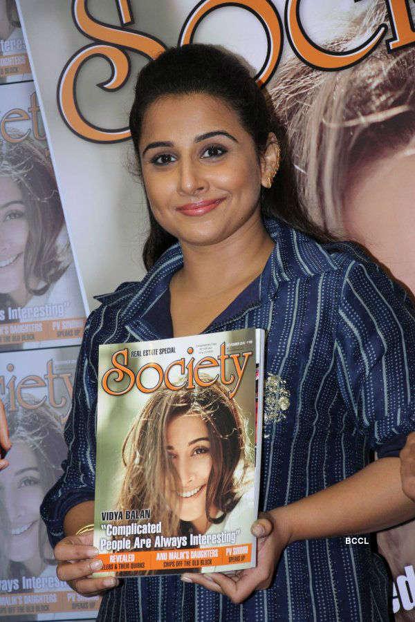 Vidya Balan unveils Society Magazine issue