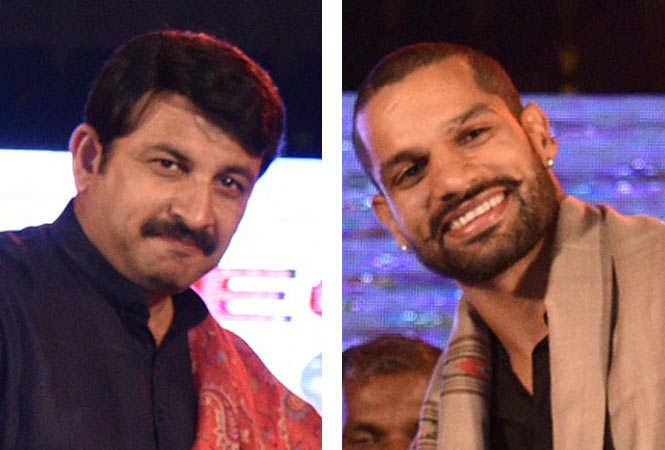 (L-R)Manoj Tiwari and Shikhar Dhawan(BCCL)
