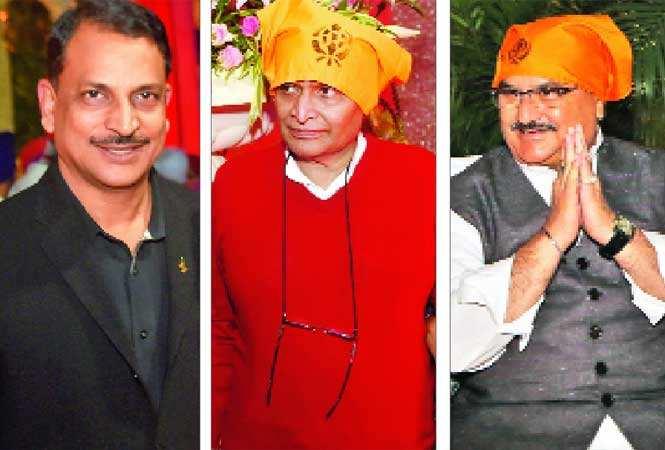 (L-R) MoS Skill Development & Entrepreneurship (Independent Charge) Rajiv Pratap Rudy, Railway minister Suresh Prabhu and Health minister JP Nadda (BCCL)