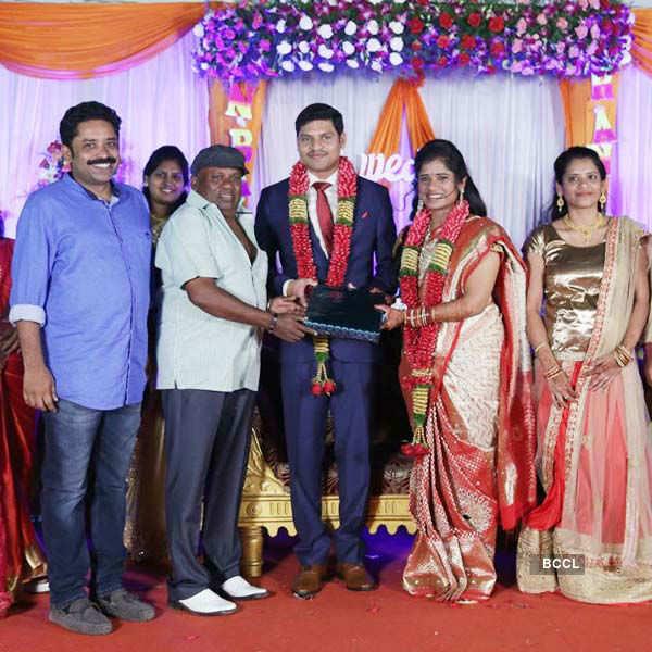 Celebs @ Anitha & Balaji's wedding