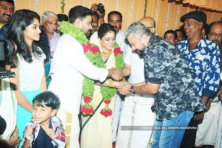 Celebs at Dileep, Kavya Madhavan wedding