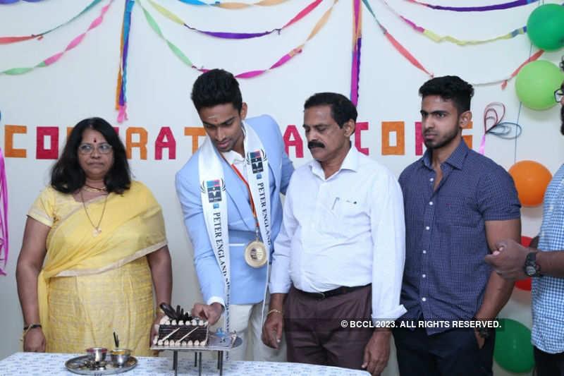 Peter England Mr. India 2016 Vishnu Raj Menon homecoming