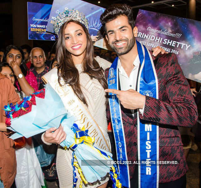 Miss Supranational 2016 Srinidhi Shetty with Mister 2nd Runner up ...