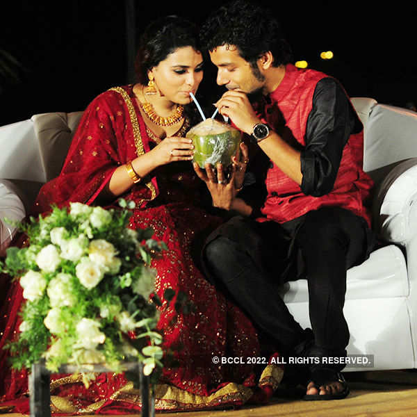 Sreenath Bhasi and Reethu's wedding reception