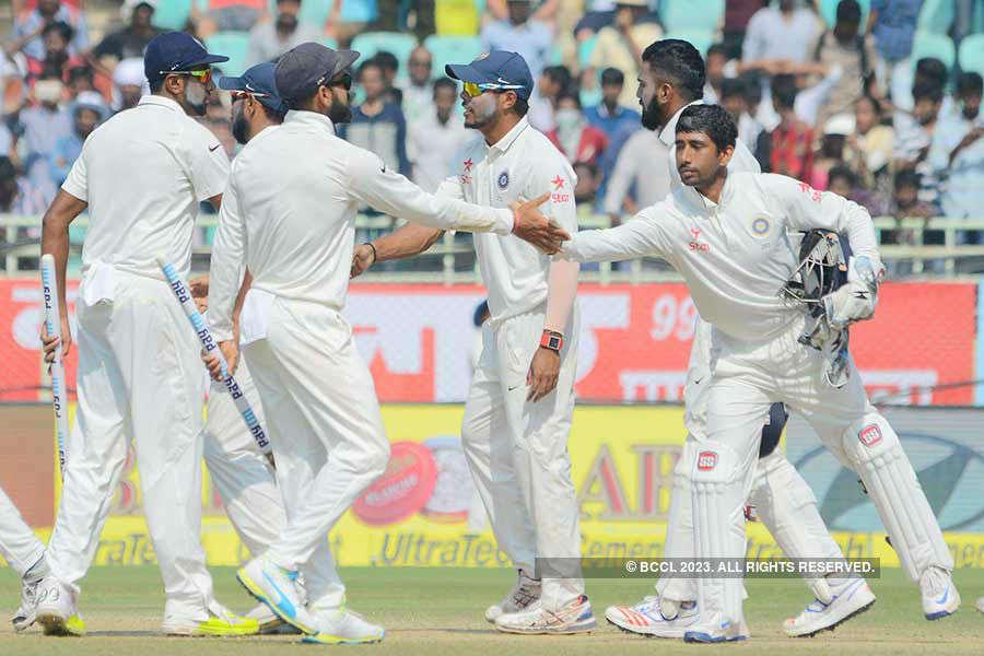 Mumbai Test: India thump England by innings and 36 runs