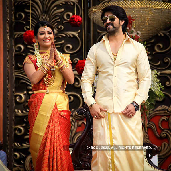 Yash and Radhika's wedding reception
