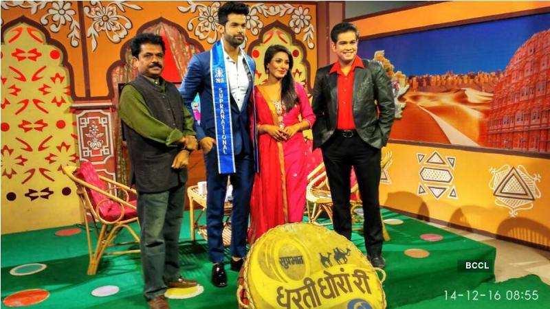 Jitesh Thakur at Doordarshan television show Dharti Dhora