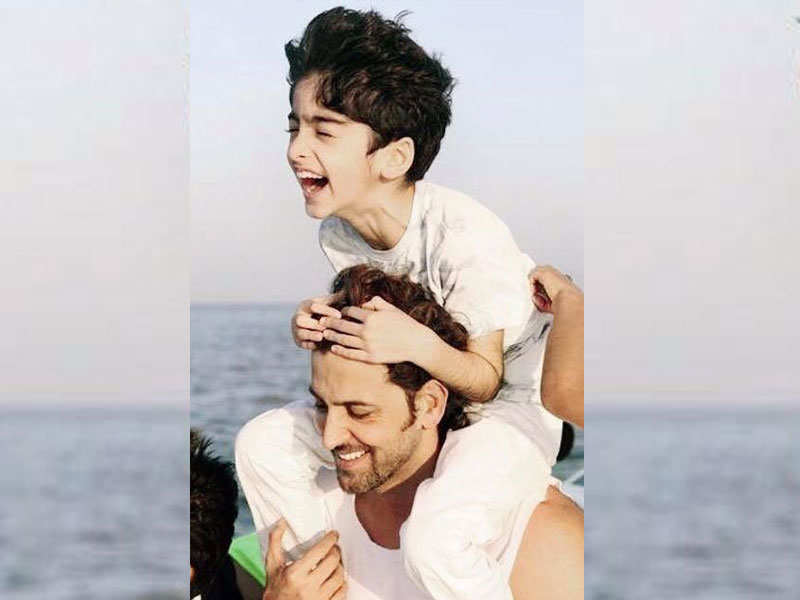 Hrithik Roshans Picture With His Son Is Too Cute For Words