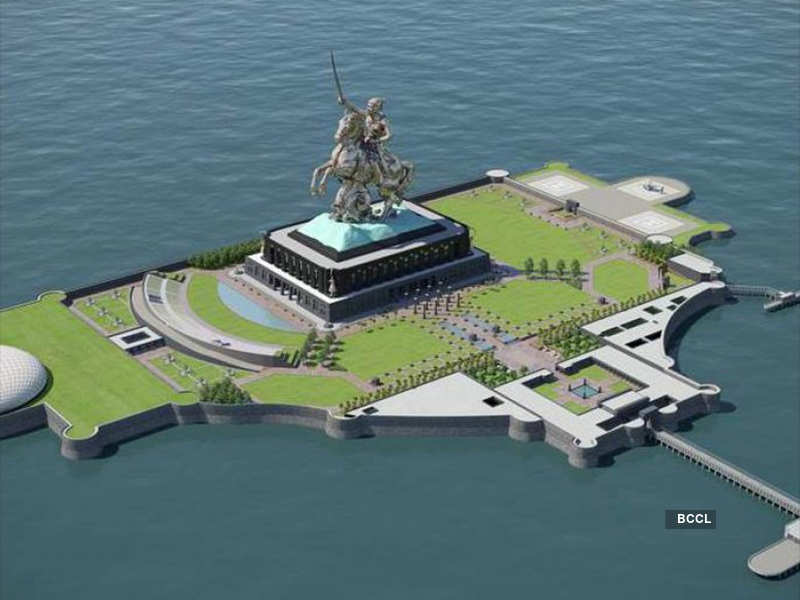 PM Modi inaugurates Shivaji Memorial and this is how it will look like