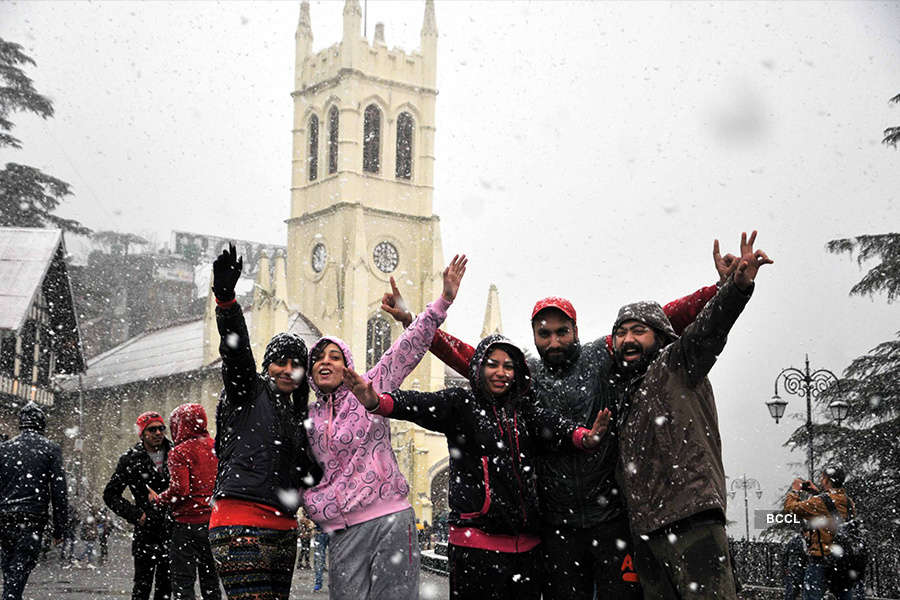 In pics: Shimla celebrates White Christmas after 24 years