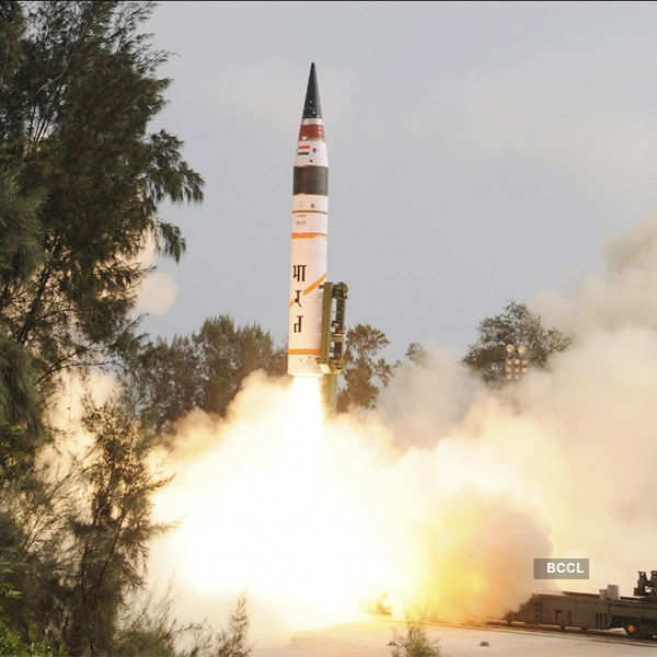 India test fires Agni-V missile off Odisha coast