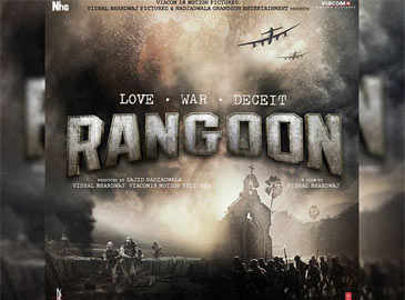 Shahid Kapoor takes us to the front line in first 'Rangoon' poster