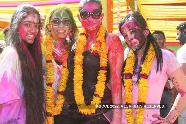 JK Jain's Holi party