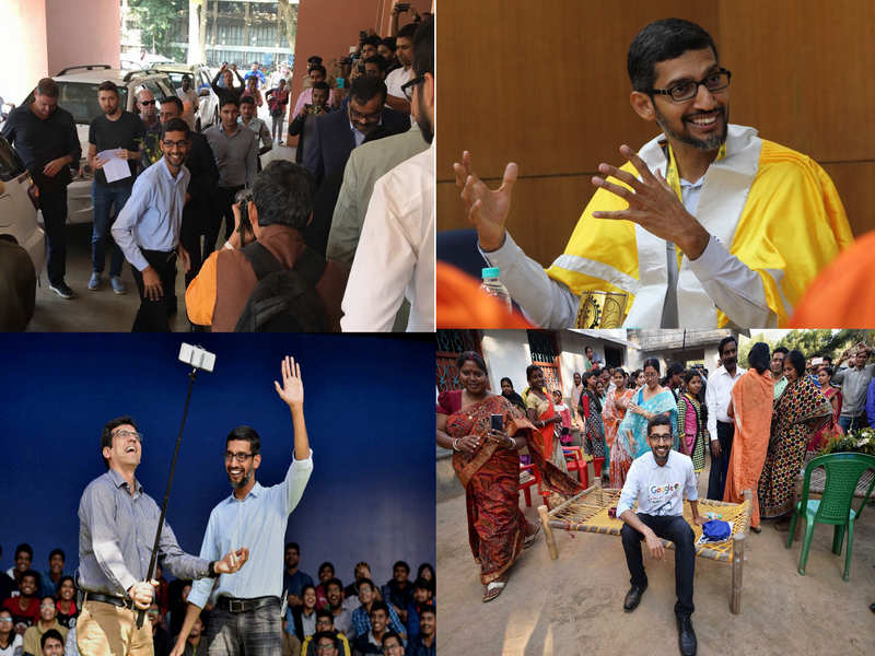 10 'best' pictures from google ceo sundar pichai's india visit