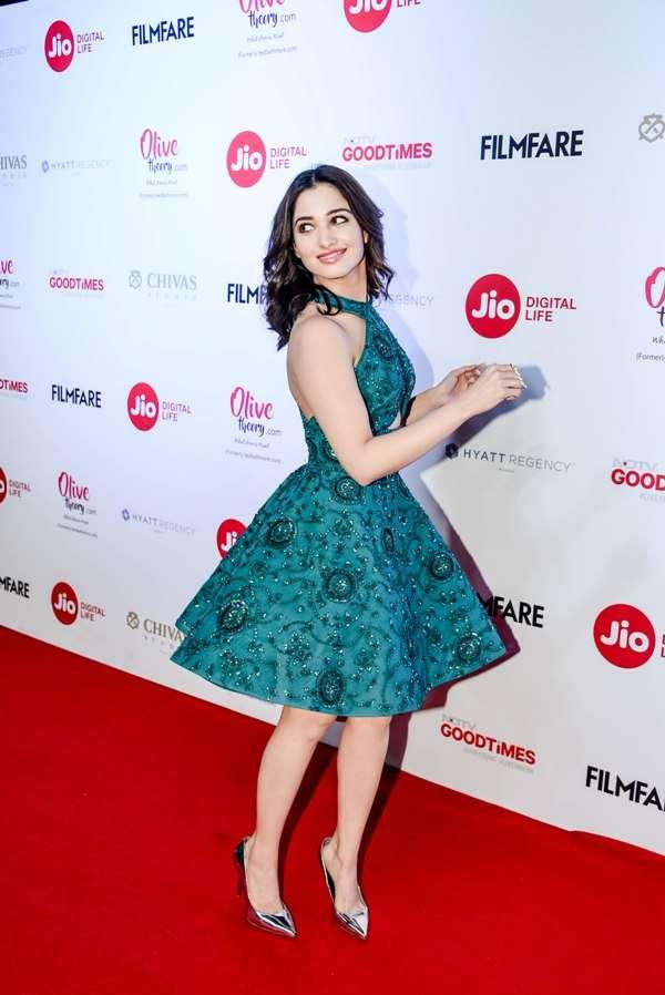 Tamannaah Bhatia flaunts her outfit