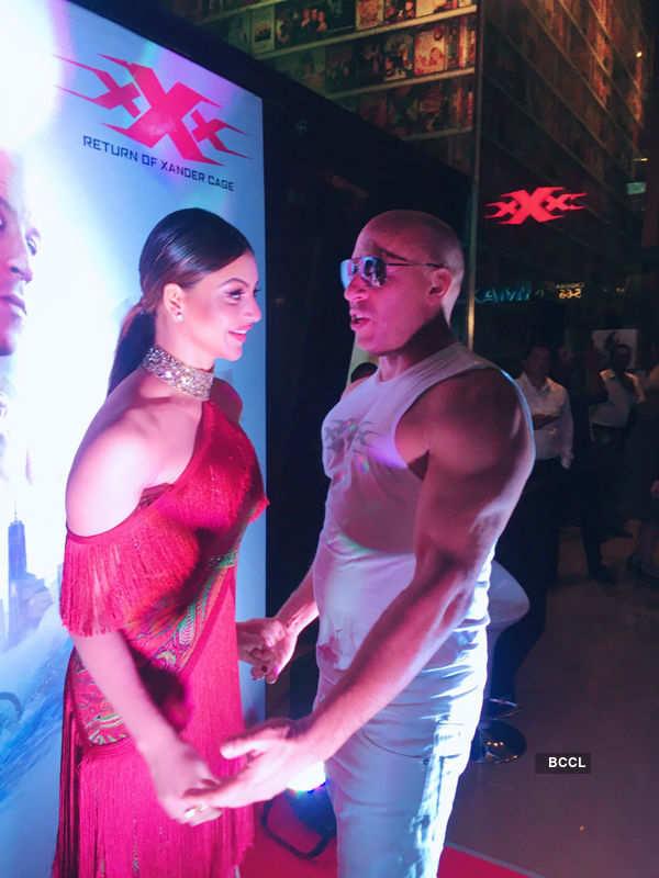 Urvashi Rautela meets Vin Diesel!