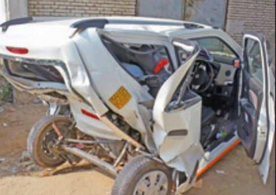 Delhi News: Speeding BMW rams Uber cab, kills driver | Delhi