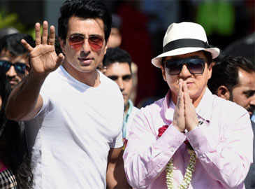 Jackie Chan in India to promote 'Kung Fu Yoga'