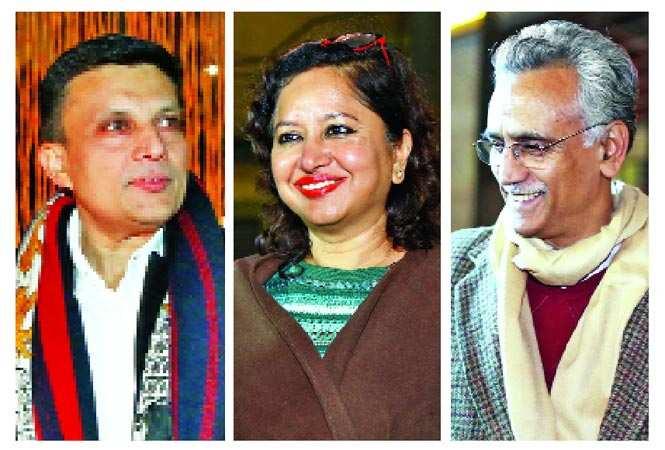 (L-R)Manav Gupta, Pushpa Bector, Rajan Swaroop (BCCL/ Lokesh Kashyap)
