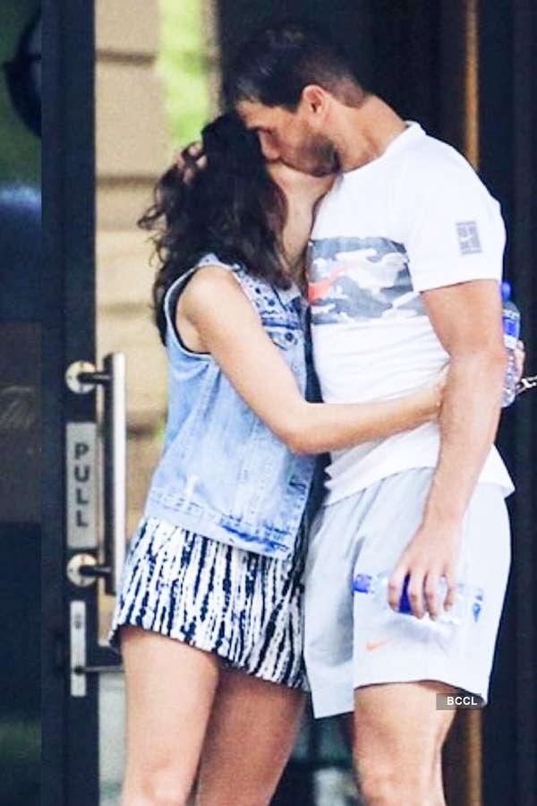 Rafael Nadal passionately kisses girlfriend
