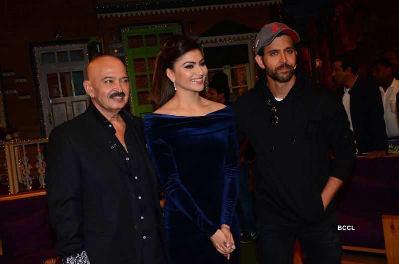 Urvashi Rautela on the sets of Kapil Sharma show