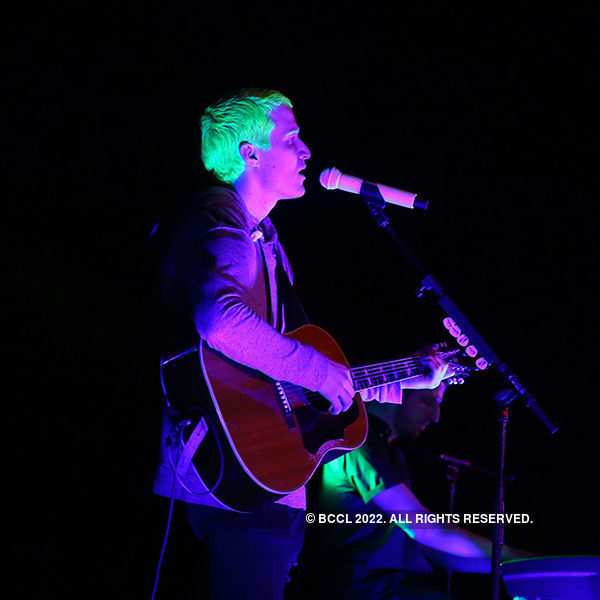 Mike Posner performs in the city