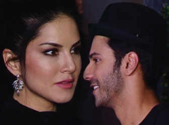 Varun Dhawan, Sunny Leone snapped at a gym launch!