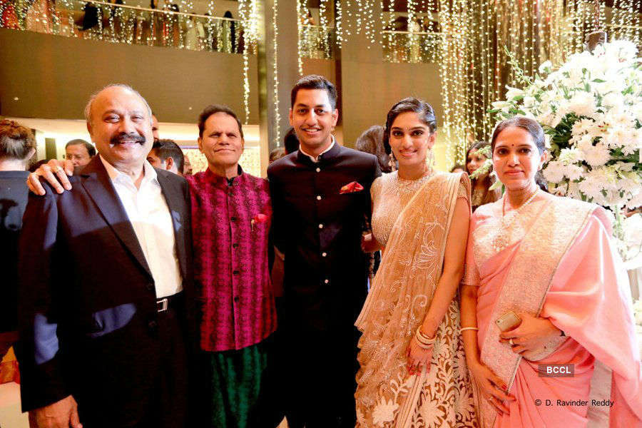 The celebs dazzle at Keshav and Veena's wedding