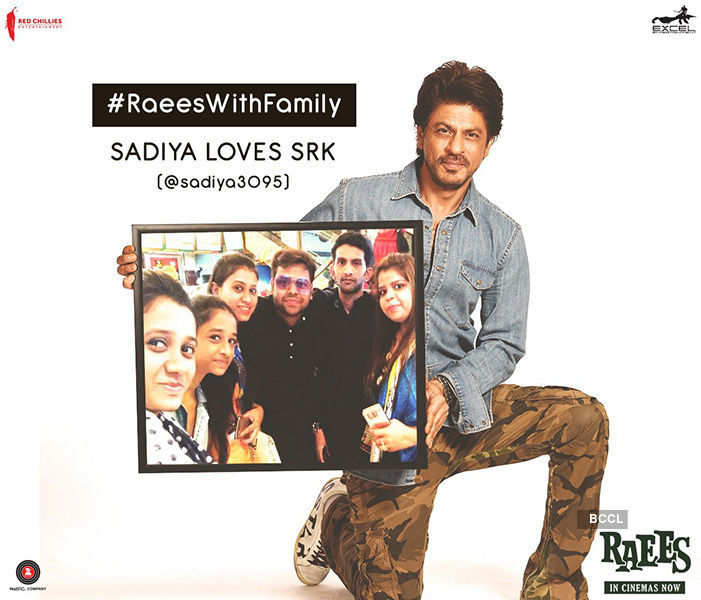 #RaeesWithFamily: SRK personally thanks fans