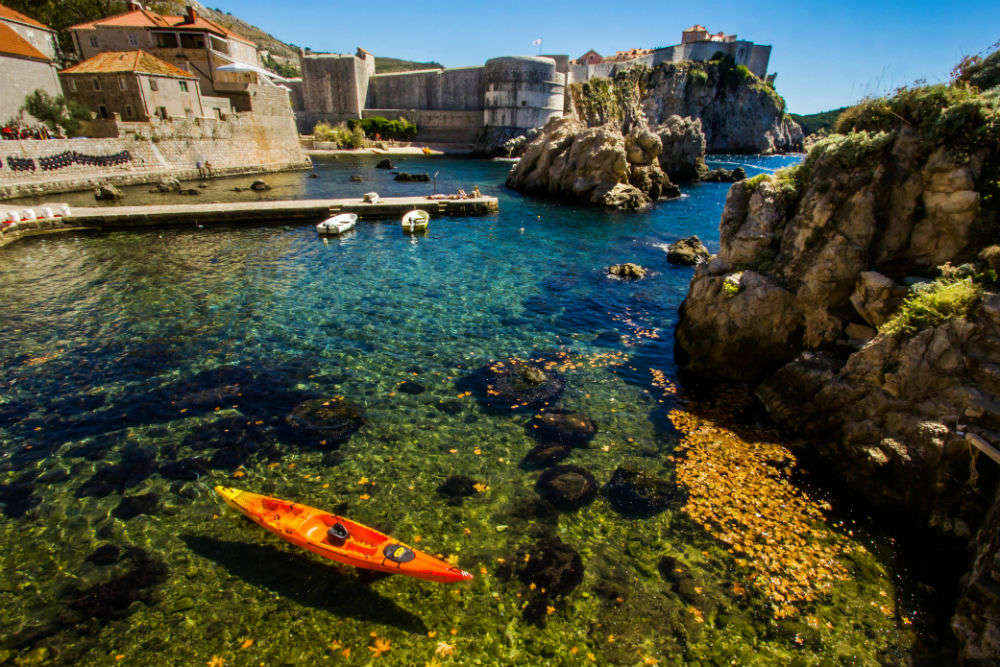 See Dubrovnik from a kayak