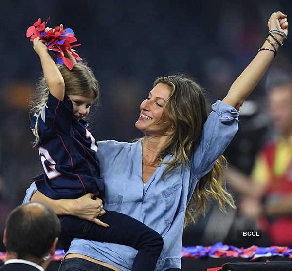Gisele Bundchen celebrates husband Tom Brady's Super Bowl win