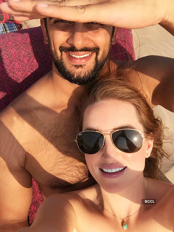 Arunoday Singh holidays with wife Lee Elton in Goa