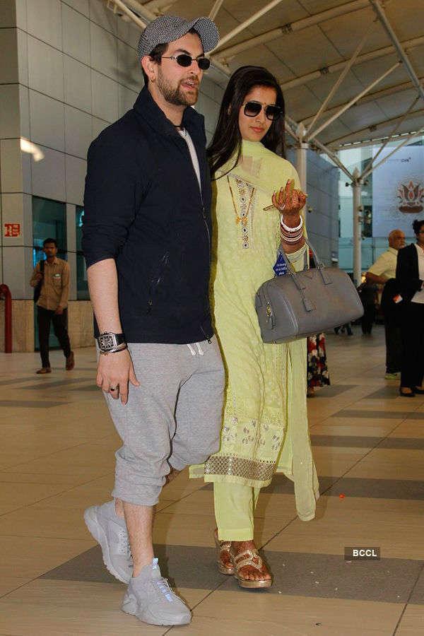 Neil-Rukmini return to Mumbai after wedding