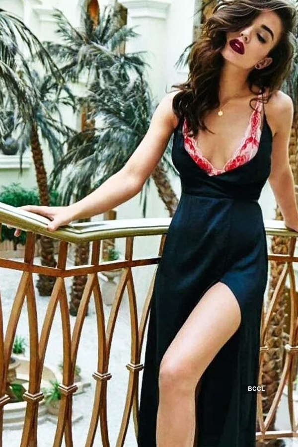 Amy Jackson shoots for an ad in LA