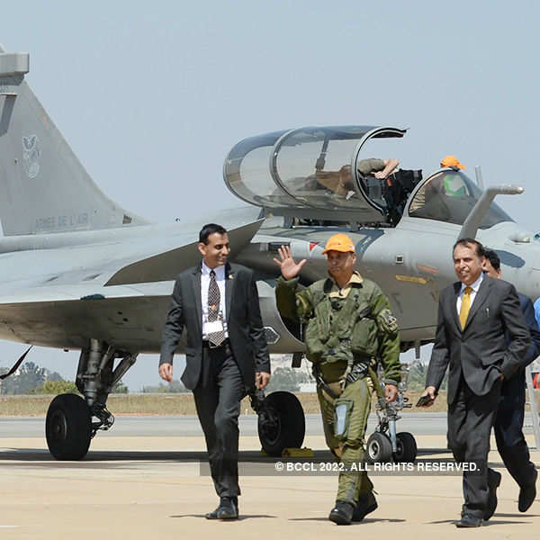 Aero India 2017: Anil Ambani flies in Rafale fighter