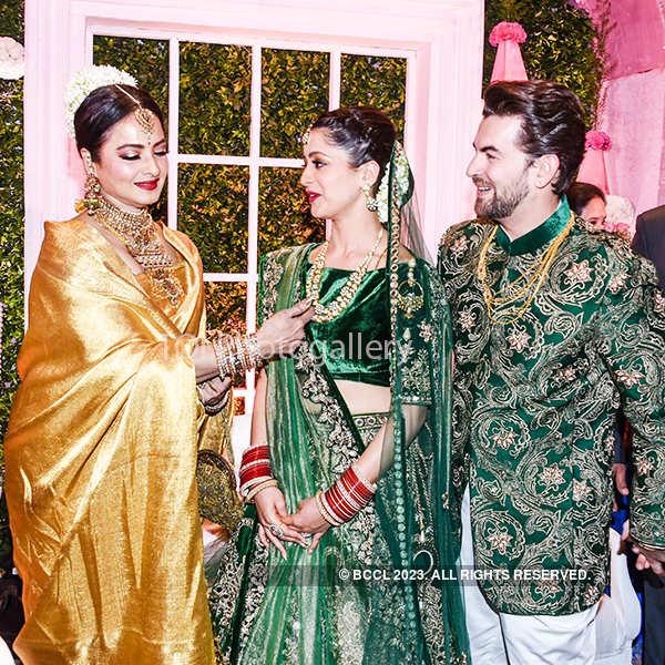 Salman, Big B & Rekha bless newly-wed Neil, Rukmini!