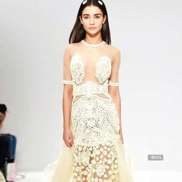 Amy Jackson sets the ramp on fire at London Fashion Week!
