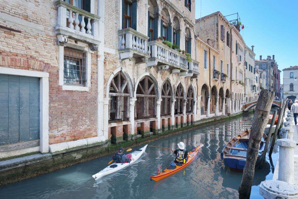 Kayak along Venice's Canals