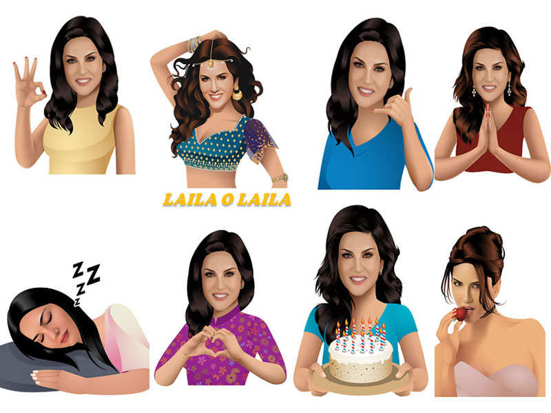 These Sunny Leone emojis are too cool to miss