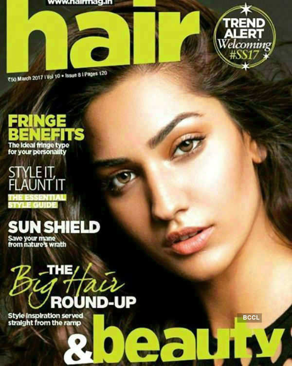Jhataleka Malhotra on the cover of Hair and Beauty Magazine