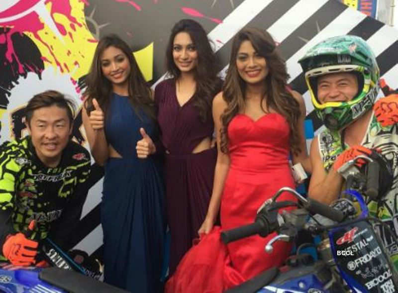 Beauty queens at Yamaha Swag Bash- FMX Stunt Show