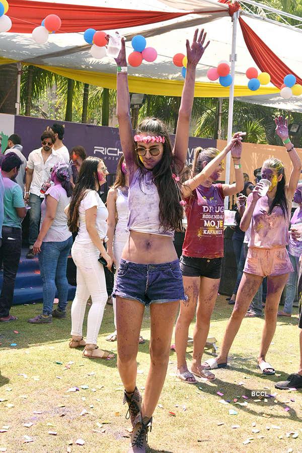 Box Cricket League's Holi Invasion Party