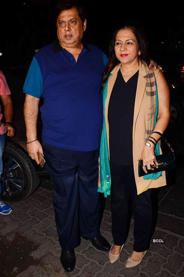 David Dhawan and Karun Dhawan attend the success party