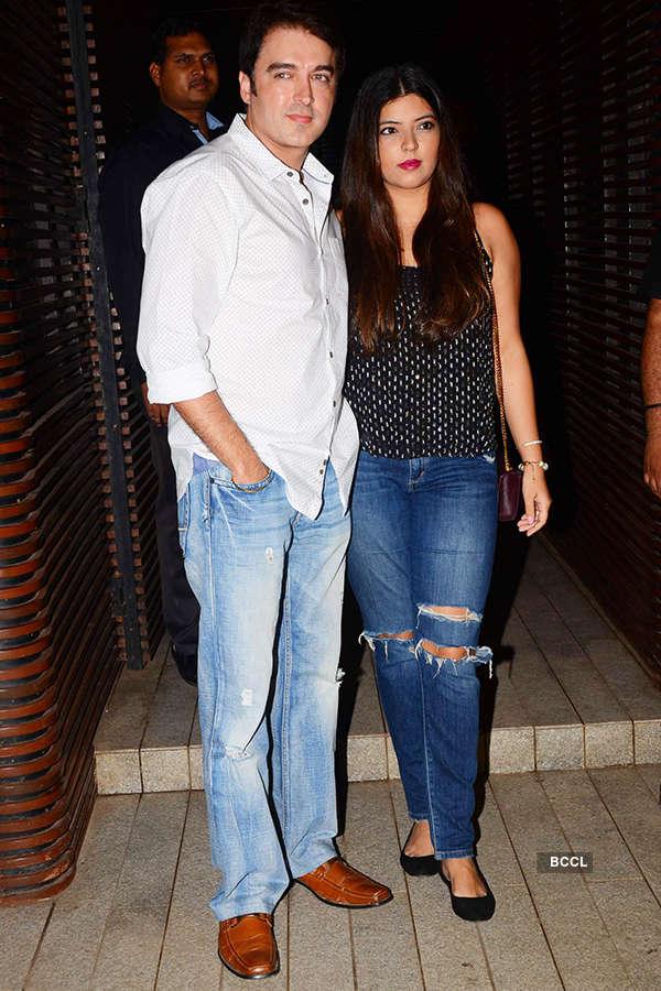 Jugal Hansraj and Jasmine Hansraj attend the success party