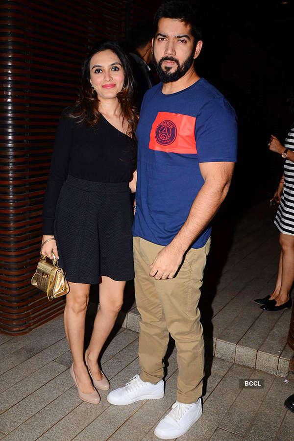 Rohit Dhawan with wife Jaanvi Desai