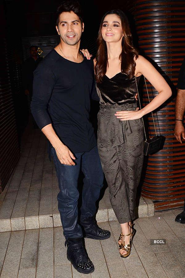 Varun Dhawan and Alia Bhatt attend the success party