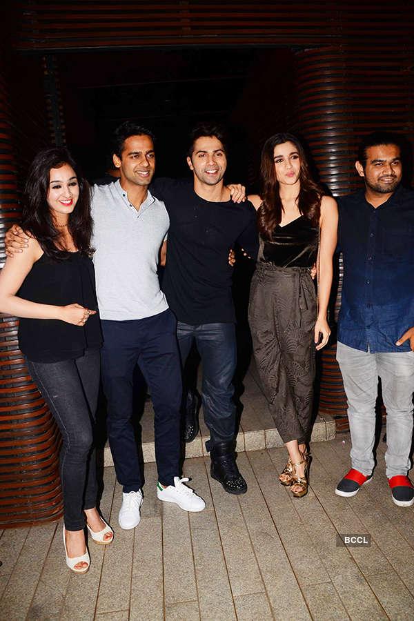 Varun Dhawan and Alia Bhatt with guests
