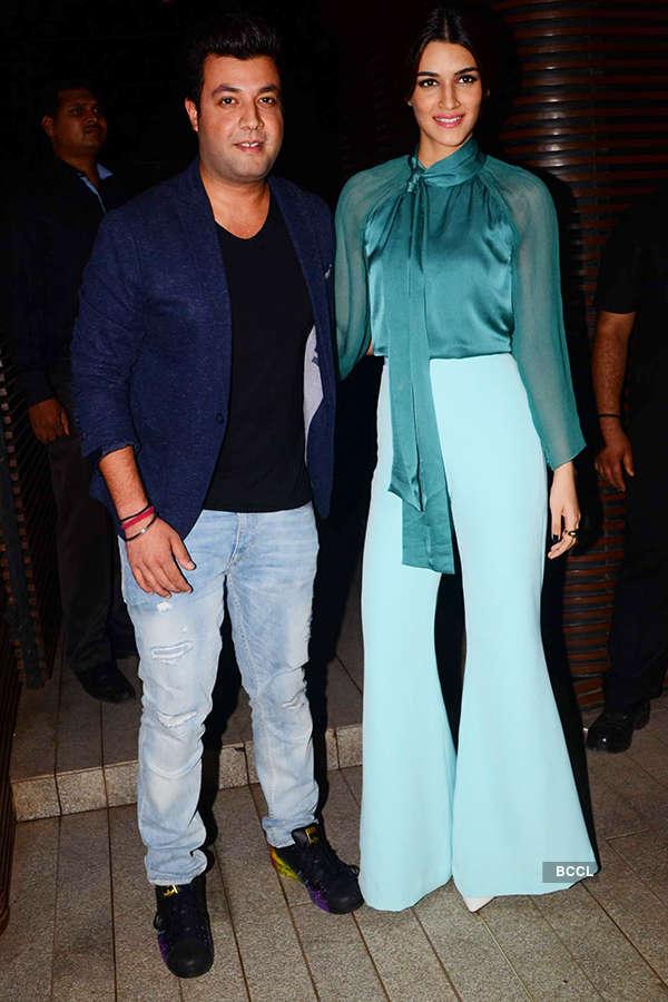 Varun Sharma and Kriti Sanon attend the success party