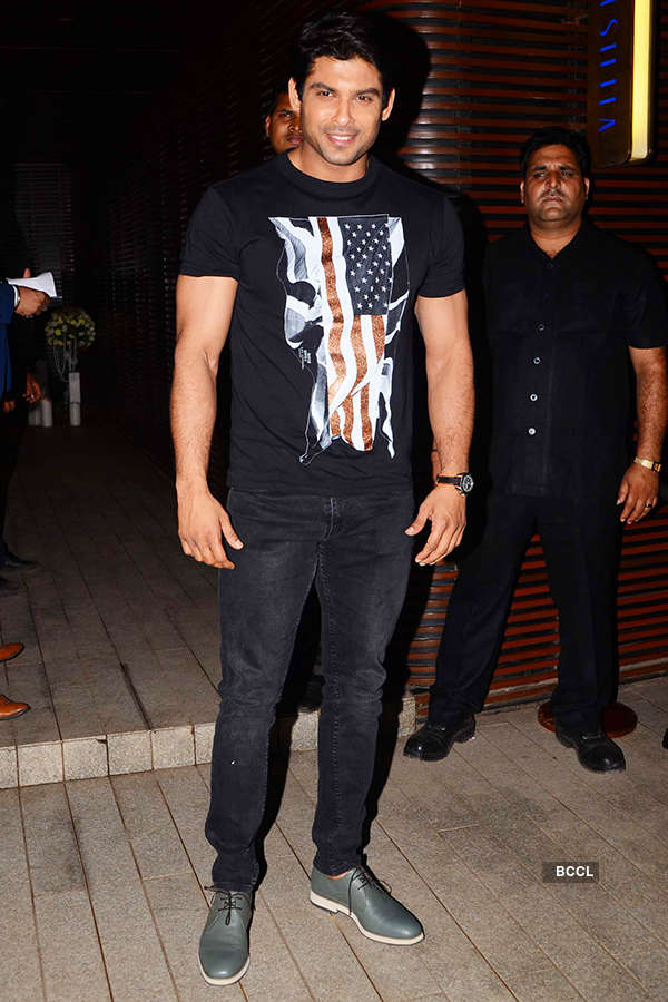 Siddharth Shukla attends the success party