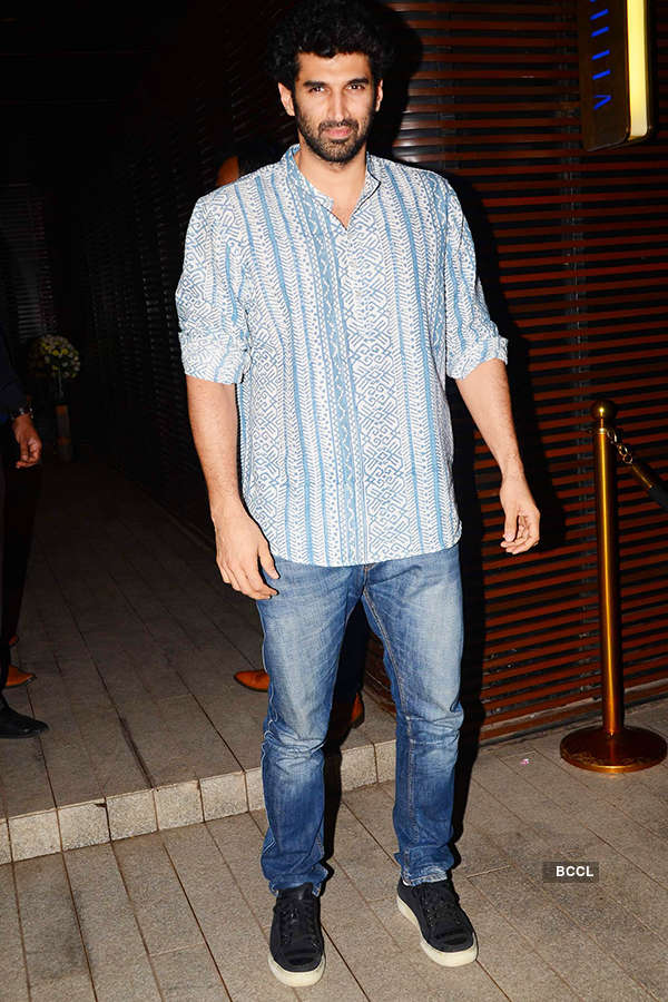 Aditya Roy Kapur attends the success party